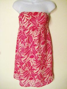 AMERICAN EAGLE OUTFITTERS Juniors Women's Pink White Halter Sun Dress Sz 4 $12.99