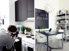 kitchen | chalk board painted cabinets