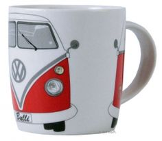 Volkswagen Bus Ceramic Mug Volkswagen Bus, T1 Bus, Vw T1, Vw Camper, Design3000, Shops, Love Car, Bone China, Are You Happy