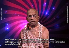 A Liberated Person  For full quote go to: http://quotes.iskcondesiretree.com/srila-prabhupada-on-a-liberated-person/  Subscribe to Hare Krishna Quotes: http://harekrishnaquotes.com/subscribe/