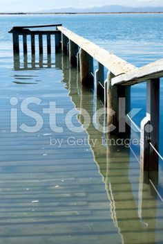 Water on Pier with Reflection royalty-free stock photo