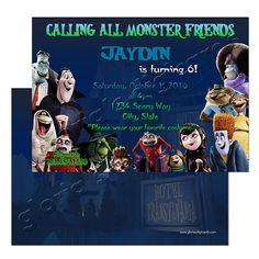 Hotel Transylvania 2 Party Invitation by by gloriasDigiCards Hotel Transylvania 2, Etsy Store, Party Invitations, Your Favorite, Birthday Ideas, Scary, Handmade Gifts, Kids, Kid Craft Gifts