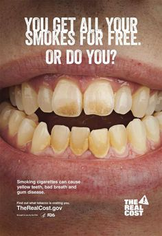 An anti-smoking poster issued by the U. Food and Drug Administration (FDA) is seen in an undated handout image. A major new anti-tobacco c. Quit Smoking Motivation, Quit Smoking Tips, Giving Up Smoking, Smoking Kills, Anti Smoking Poster, Smoking Campaigns, Anti Tobacco, Smoking Addiction, Smoking Effects