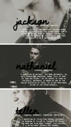 Jackson Nathaniel Teller - I love this, with Kurt did a lot of research or he is just that good!!!
