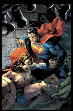 Superman and Wonder Woman by Clay Mann