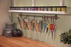 Running out of space? Just look up and take advantage of the vertical space like the walls! With RIBBA picture ledge and FINTORP rail you can create a DIY craft station to store all your supplies. Read more on our blog!