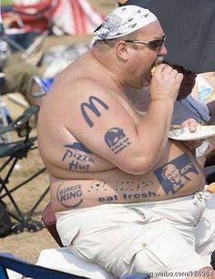 I love this guys tattoos! HAHAha..