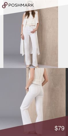 Rag & Bone High Rise Bell More product details  A perfect every (summer) day wear style. High-rise cut. Five pocket. Zipper/button closure. Slim leg widens towards a bell bottom at the hem. In bright white. Fabric: 43% viscose/33% cotton/17% tencel/5% polyester/2% elastane rag & bone Jeans Flare & Wide Leg