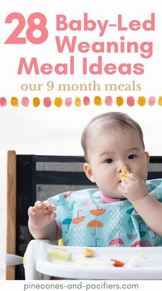 Tips for getting started with baby-led weaning or self-feeding with your baby. Our meal times and favorite feeding supplies plus 28 easy blw meal ideas that you baby will love! Baby Led Weaning Breakfast, Baby Led Weaning First Foods, Baby First Foods, Baby Weaning, Baby Foods, Baby Tips, Baby Hacks, Baby Ideas, Feeding Baby Solids