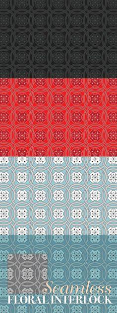 Seamless Floral Interlock Pattern #floral