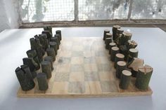 The Log Chess Set is a handmade, woodland version of the classic board game. Designed by British designer Peter Marigold, the set was made using only a single tree branch. Originally created for use while the designer was completing an artist residency at NKD in Norway, this rough and ready eco-friendly design is both unique and wonderful.