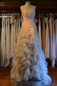 Cascading Silk Organza Wedding Gown by CocoonSilknw on Etsy, $1200.00