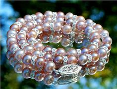 Timeless Lavender round pearl and Swarovski by DesignsbyDMCandles