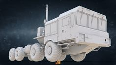 ArtStation - Russian Army Special Heavy Wheeled Chassis MZKT-7930, Stanislav Boldienkov