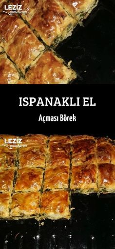 Ispanaklı El Açması Börek Turkish Recipes, Banana Bread, Food And Drink, Meat, Dinner, Desserts, Gourmet, Kitchens, Food
