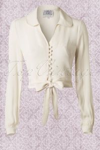 The Seamstress of Bloomsbury Cream Clarise Blouse 112 51 1412220140922 006W