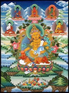Buddhist Yellow Jambhala , part of the ratna family headed by Ratnasambhava