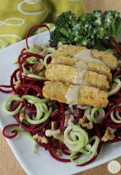 Beet n' Broccoli Spiralized Salad via Britt's Blurbs