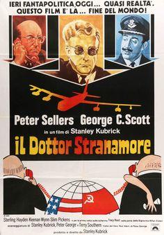 "Dr. Strangelove (1964) Vintage R73 Italian Poster - 39"" x 55"""