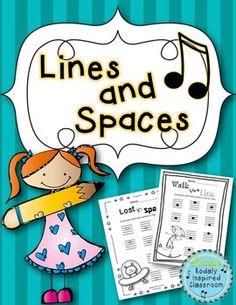 Lines and Spaces Worksheet Pack