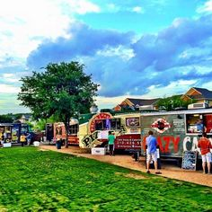 The Block in San Antonio, TX. Food truck park and patio. What a cool idea!
