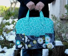 Looking for your next project? You're going to love Weekender Bag Overnight Travel Bag by designer SusieDDesigns.