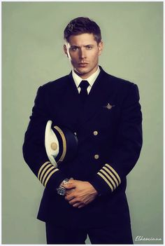 Jensen Ackles, as a pilot, with an intense smolder. to hott for words