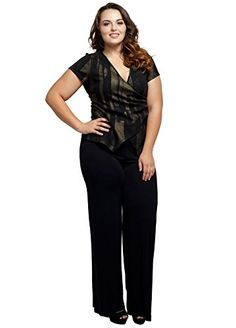 0862b623a495 Fashion Bug Womens Plus Size Stretchy Comfy Palazzo Solid Color Pants www.