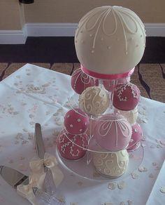 Temari ball wedding cakes by Cake Woman UK, via Flickr