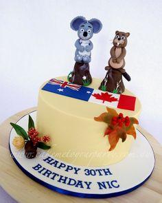 Australian/Canadian themed cake