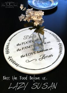 Bless the Food Before Us ~ Lazy Susan and Printable