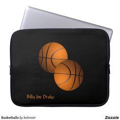 Basketballs Laptop Computer Sleeve