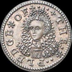 A pattern penny of Queen Elizabeth, dated 1601
