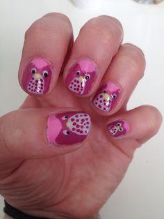 Nail art hiboux #newone