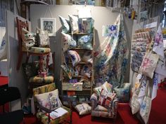 Stand 60 - end stand - - Tessa Jane Centre, Past, Textiles, Painting, Past Tense, Painting Art, Paintings, Cloths, Fabrics