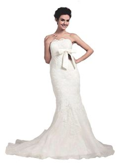 Faironly Bridal Wedding Dress Gown Lace Sashes  Sequins Size 6 8 10 12 14 16