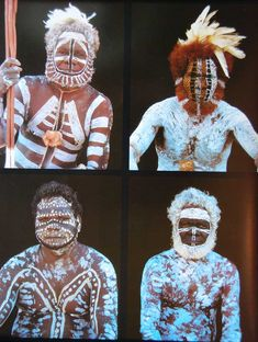 Aboriginal Australia, Tiwi men in full body design for the funeral of an important man. Aboriginal History, Aboriginal Culture, Aboriginal People, Aboriginal Art, Pintura Tribal, Arte Tribal, Tribal Art, What Is Ascension, Body Painting