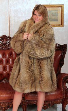 WaschbÄr Pelzmantel Pelz Raccoon Fur Coat Mantel Fourrure De Raton Laveur M-l Kleidung & Access. Vor 1900