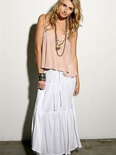 White Gypsy Skirt- want want want:-)