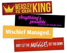 Printable Bookmarks - Harry Potter - Instant Download
