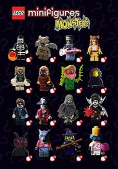 Have frightful fun with 16 all-new monster-themed minifigures in Series 14 of the LEGO® Minifigures Collection! Each minifigure comes in a sealed 'mystery' bag with one or more accessories display ...