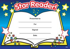 Printable reading award certificates certificate super reader and print accelerated reading certificate star reader yadclub Choice Image