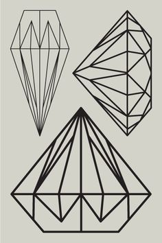 Diamonds are forever, Graphic, Line drawing