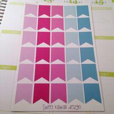30 Blank Flags  purple/teal color theme by SweetKawaiiDesign