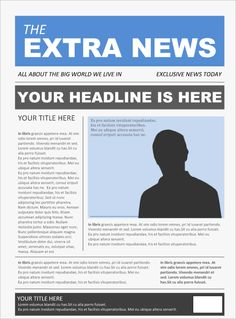 Editable old newspaper template one of a number of nice how to write newspaper headlines pdf opinion of professionals pronofoot35fo Images
