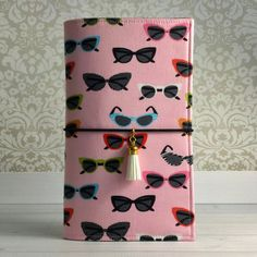 Fabric Traveler's Notebook in Fashionista Sunglasses