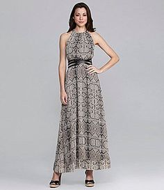 ShopStyle: Jessica Simpson Snakeprint Halter Maxidress