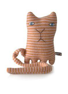 Donna Wilson Wollen knuffel streepjeskat Ginge