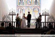 Know you said you didn't want 2nd wedding in a church but check out this awesome Southwestern deco in Chapel at La Foret