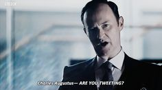 "Mycroft. Sherlock S04 E01 ""The Six Thatchers"". Season 4. <<< this was one of the funniest moments in the episode tbh"